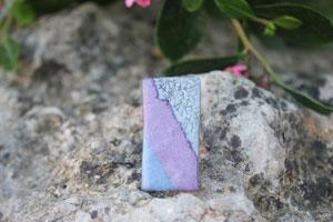 anillo en arcilla polimerica rectangular
