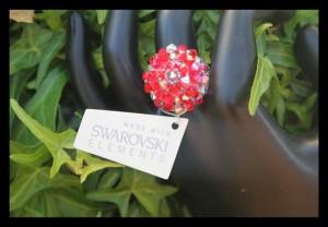 Abalorios anillo swarovski elements