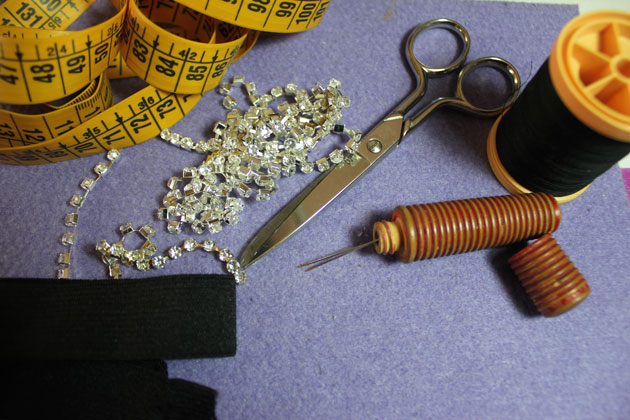materiales para la diadema