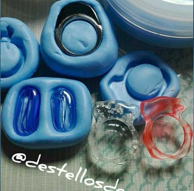 moldes de resina dos componentes
