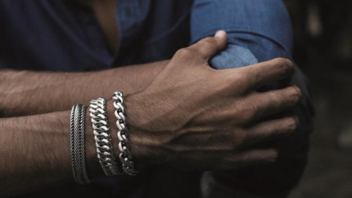 pulseras plata para hombre