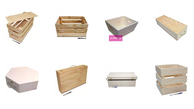cajas de madera solidarias